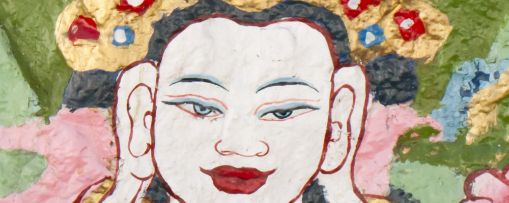 Thangka Deity Face